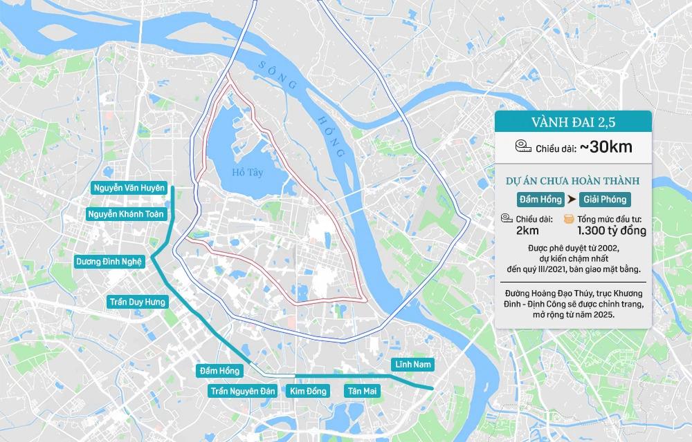 Hệ thống 7 đường vành đai của Hà Nội: Hai tuyến chưa hình thành, 5 tuyến còn lại tổng mức đầu tư gần 150.000 tỷ - Ảnh 4.