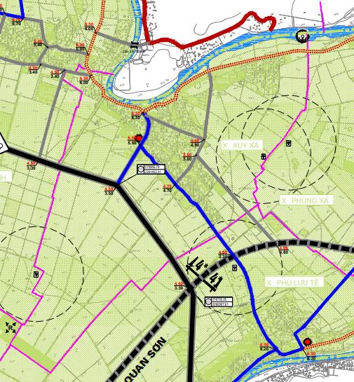 Bản đồ quy hoạch giao thông xã Xuy Xá, Mỹ Đức, Hà Nội - Ảnh 2.