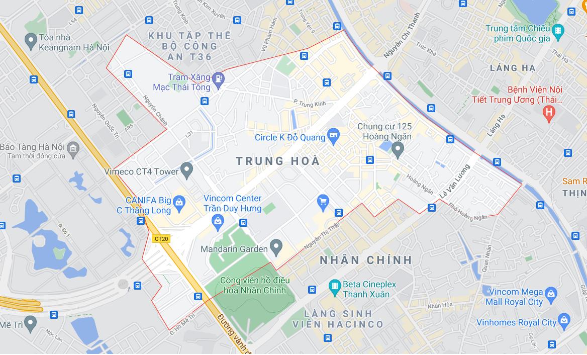 Đất dính quy hoạch phường Trung Hòa, Cầu Giấy, Hà Nội - Ảnh 1.