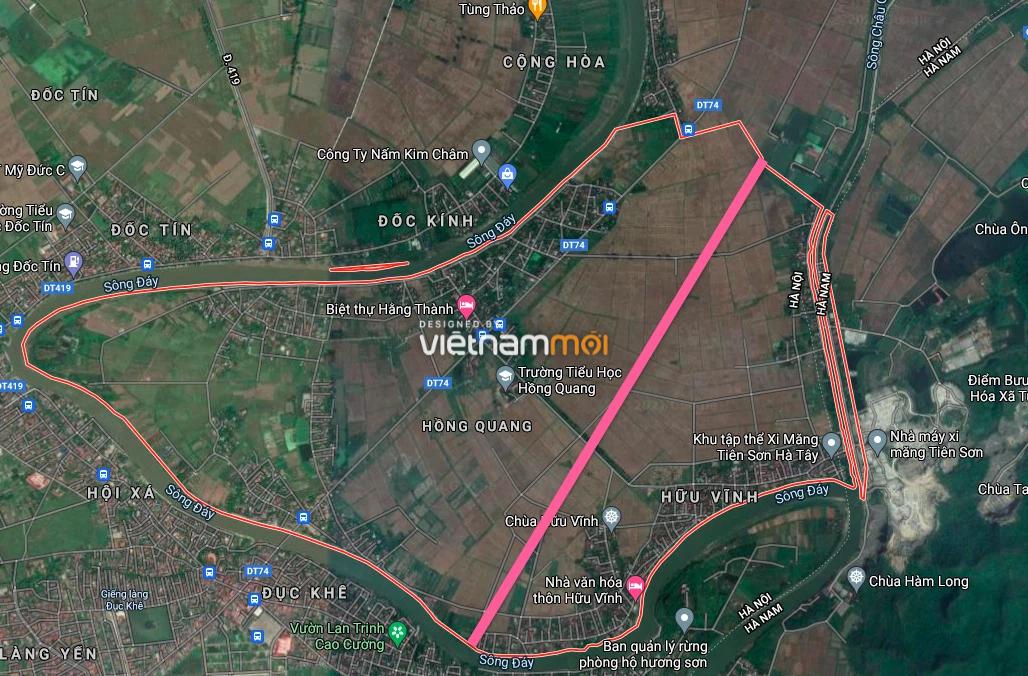 Đường sẽ mở ở xã Hồng Quang, Ứng Hoà, Hà Nội - Ảnh 2.
