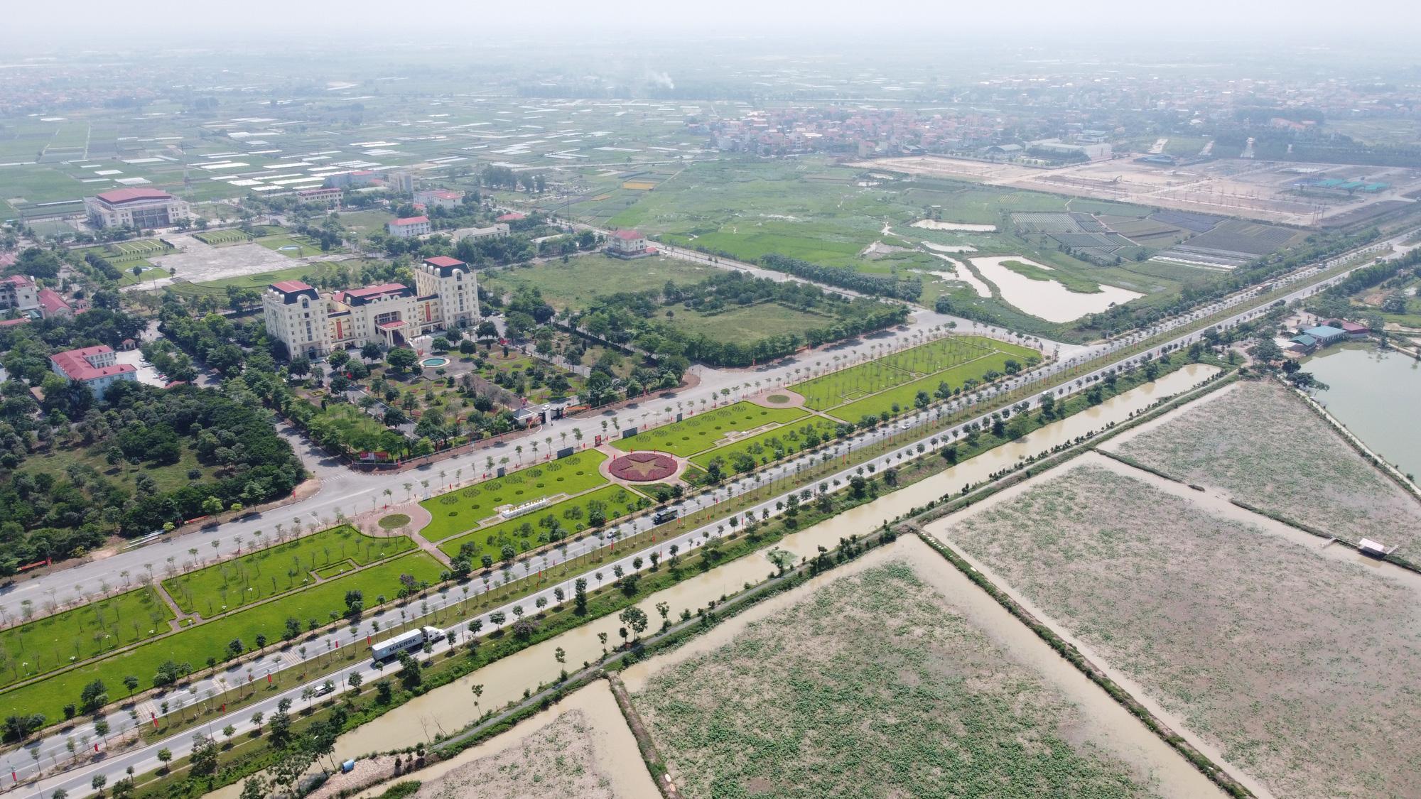 Vĩnh Phúc đầu tư giai đoạn 2 đường trục KĐT mới Mê Linh đoạn xen kẹp qua Hà Nội - Ảnh 1.
