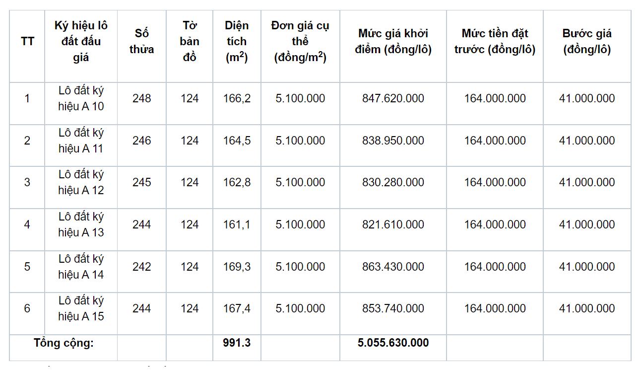 Phú Lộc, Thừa Thiên Huế đấu giá 5 lô đất, khởi điểm 5,1 triệu đồng/m2 - Ảnh 1.