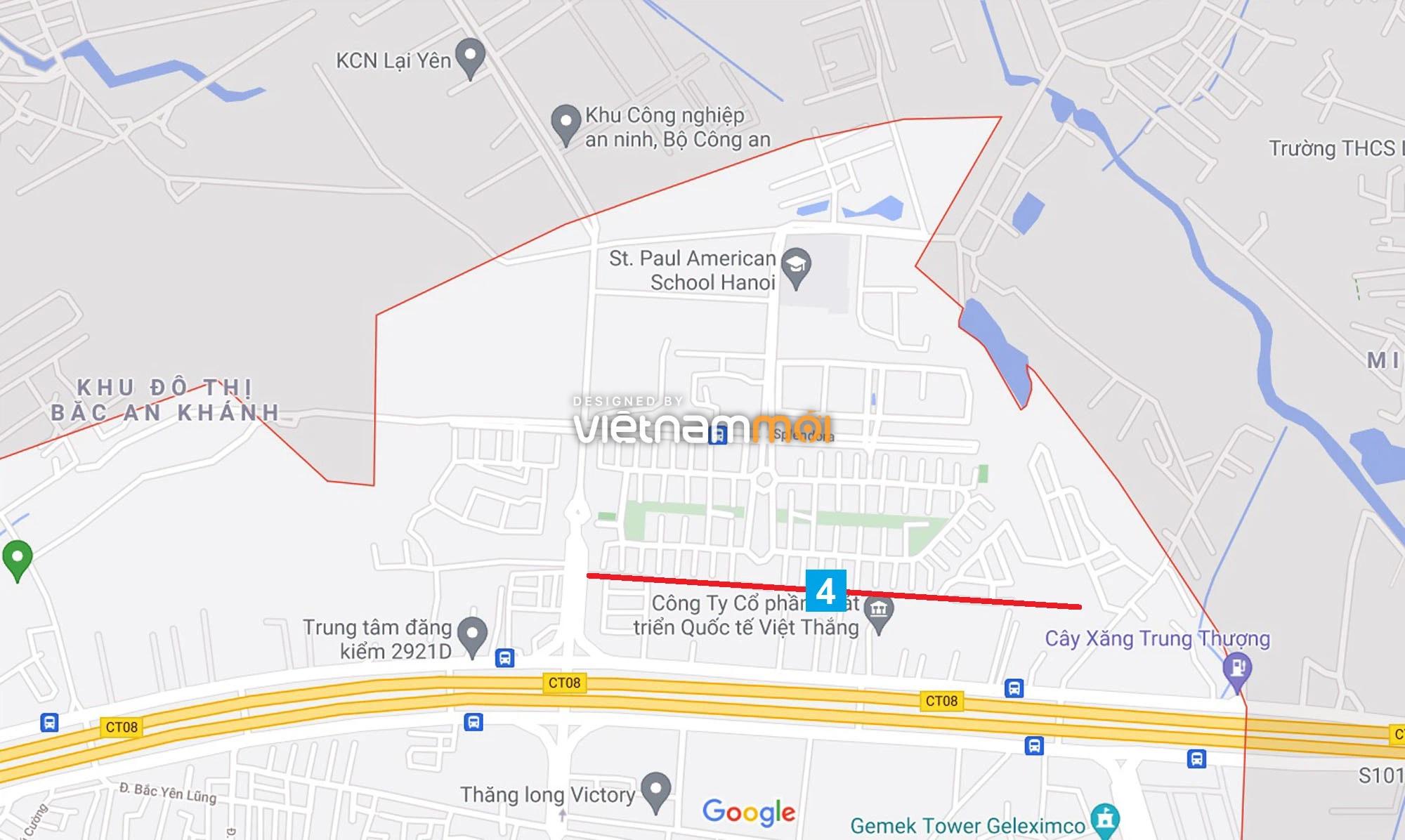 Đường sẽ mở theo quy hoạch ở xã An Khánh, Hoài Đức, Hà Nội (phần 2) - Ảnh 1.