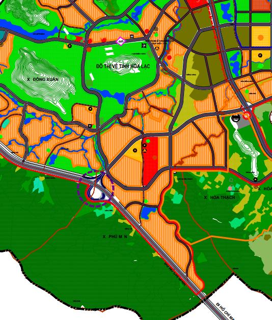 Bản đồ quy hoạch sử dụng đất xã Phú Mãn, Quốc Oai, Hà Nội - Ảnh 2.