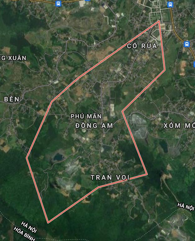 Bản đồ quy hoạch sử dụng đất xã Phú Mãn, Quốc Oai, Hà Nội - Ảnh 1.