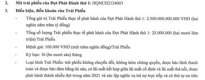 Hưng Thịnh Quy Nhơn phát hành thành công 2.500 tỷ đồng trái phiếu - Ảnh 1.