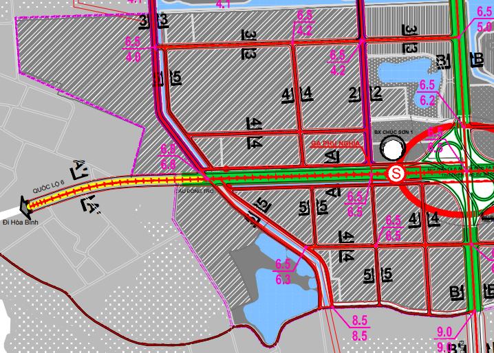 Bản đồ quy hoạch giao thông xã Phú Nghĩa, Chương Mỹ, Hà Nội - Ảnh 4.