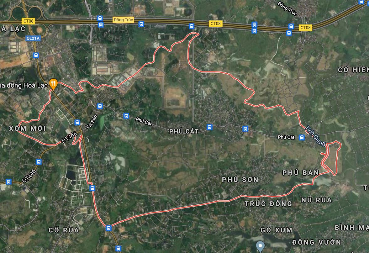 Bản đồ quy hoạch sử dụng đất xã Phú Cát, Quốc Oai, Hà Nội - Ảnh 1.