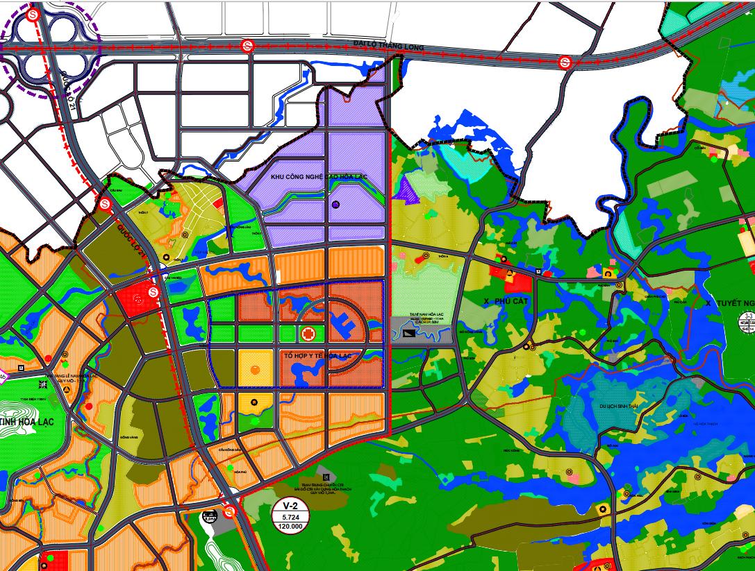 Bản đồ quy hoạch sử dụng đất xã Phú Cát, Quốc Oai, Hà Nội - Ảnh 2.