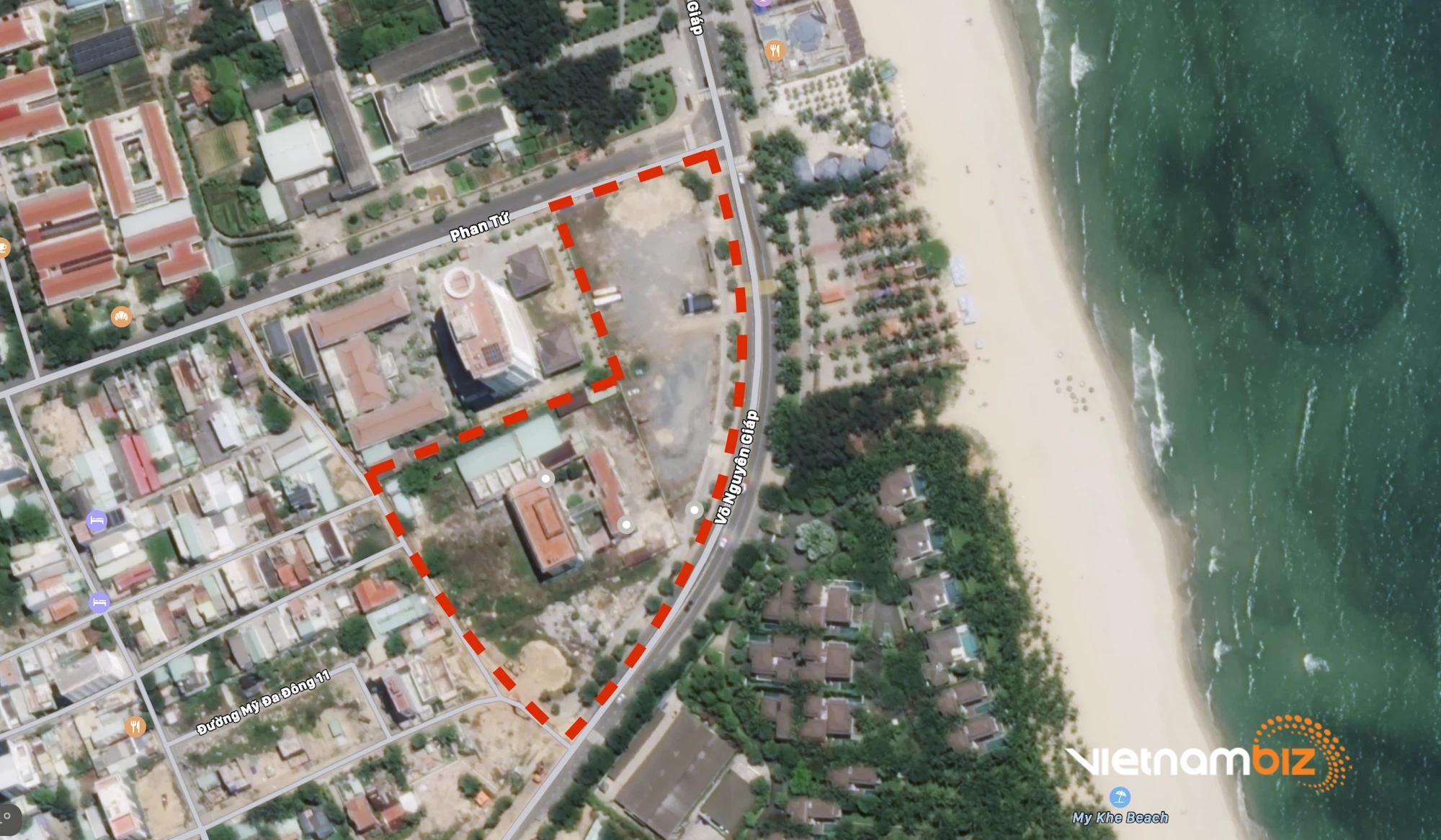 Cận cảnh hai khu đất sát bãi biển Mỹ Khê đẹp nhất Đà Nẵng sẽ đấu giá làm bãi đỗ xe - Ảnh 1.