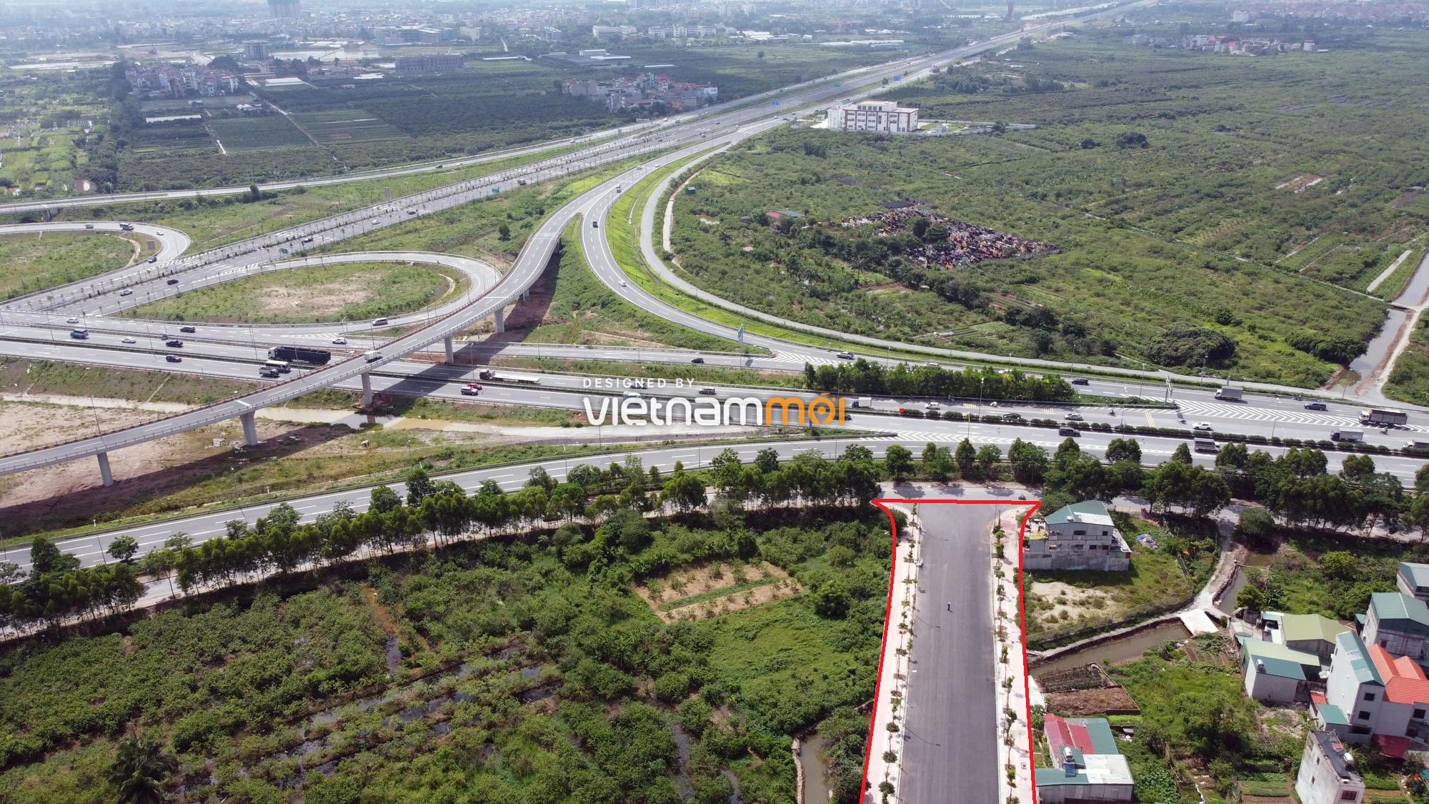 Toàn cảnh đường nối Bát Khối - QL1A đang mở theo quy hoạch ở quận Long Biên, Hà Nội - Ảnh 3.