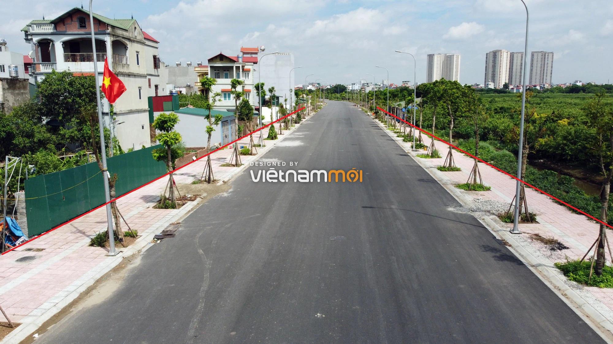 Toàn cảnh đường nối Bát Khối - QL1A đang mở theo quy hoạch ở quận Long Biên, Hà Nội - Ảnh 4.