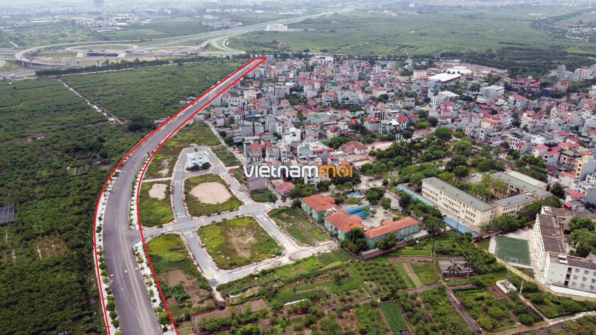 Toàn cảnh đường nối Bát Khối - QL1A đang mở theo quy hoạch ở quận Long Biên, Hà Nội - Ảnh 8.