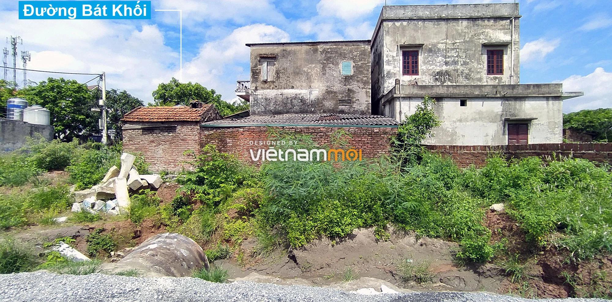 Toàn cảnh đường nối Bát Khối - QL1A đang mở theo quy hoạch ở quận Long Biên, Hà Nội - Ảnh 11.
