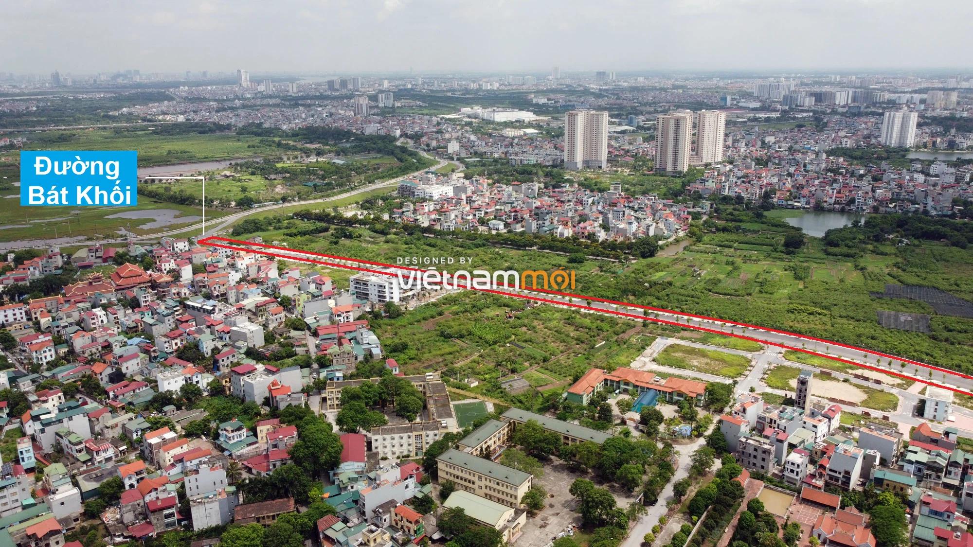 Toàn cảnh đường nối Bát Khối - QL1A đang mở theo quy hoạch ở quận Long Biên, Hà Nội - Ảnh 12.
