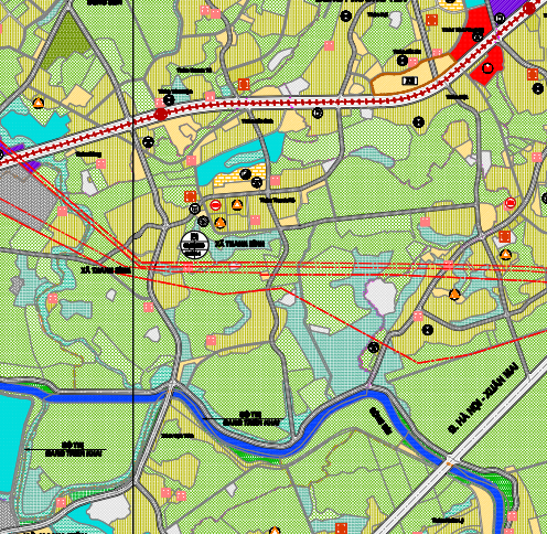Bản đồ quy hoạch giao thông xã Thanh Bình, Chương Mỹ, Hà Nội - Ảnh 2.