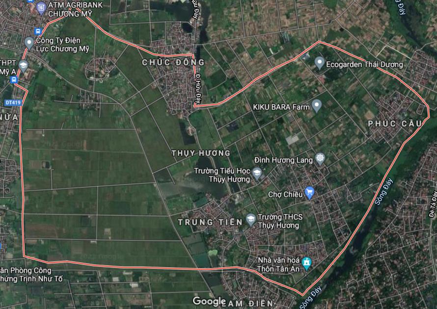 Bản đồ quy hoạch sử dụng đất xã Thuỵ Hương, Chương Mỹ, Hà Nội - Ảnh 1.