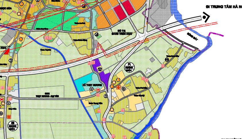 Bản đồ quy hoạch sử dụng đất xã Thuỵ Hương, Chương Mỹ, Hà Nội - Ảnh 3.