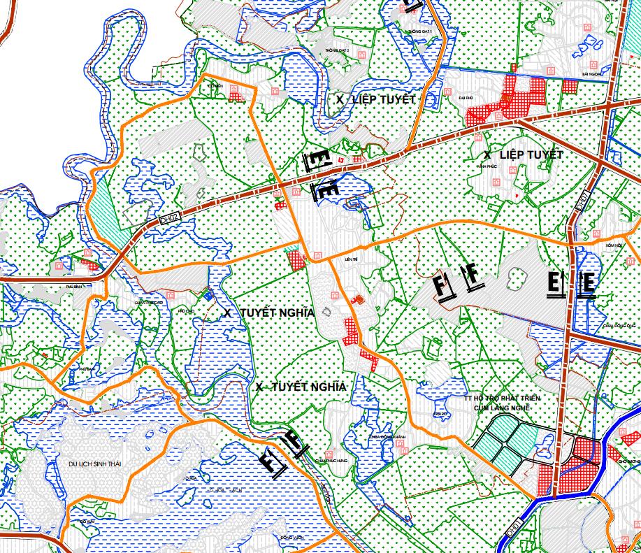 Bản đồ quy hoạch giao thông xã Tuyết Nghĩa, Quốc Oai, Hà Nội - Ảnh 2.