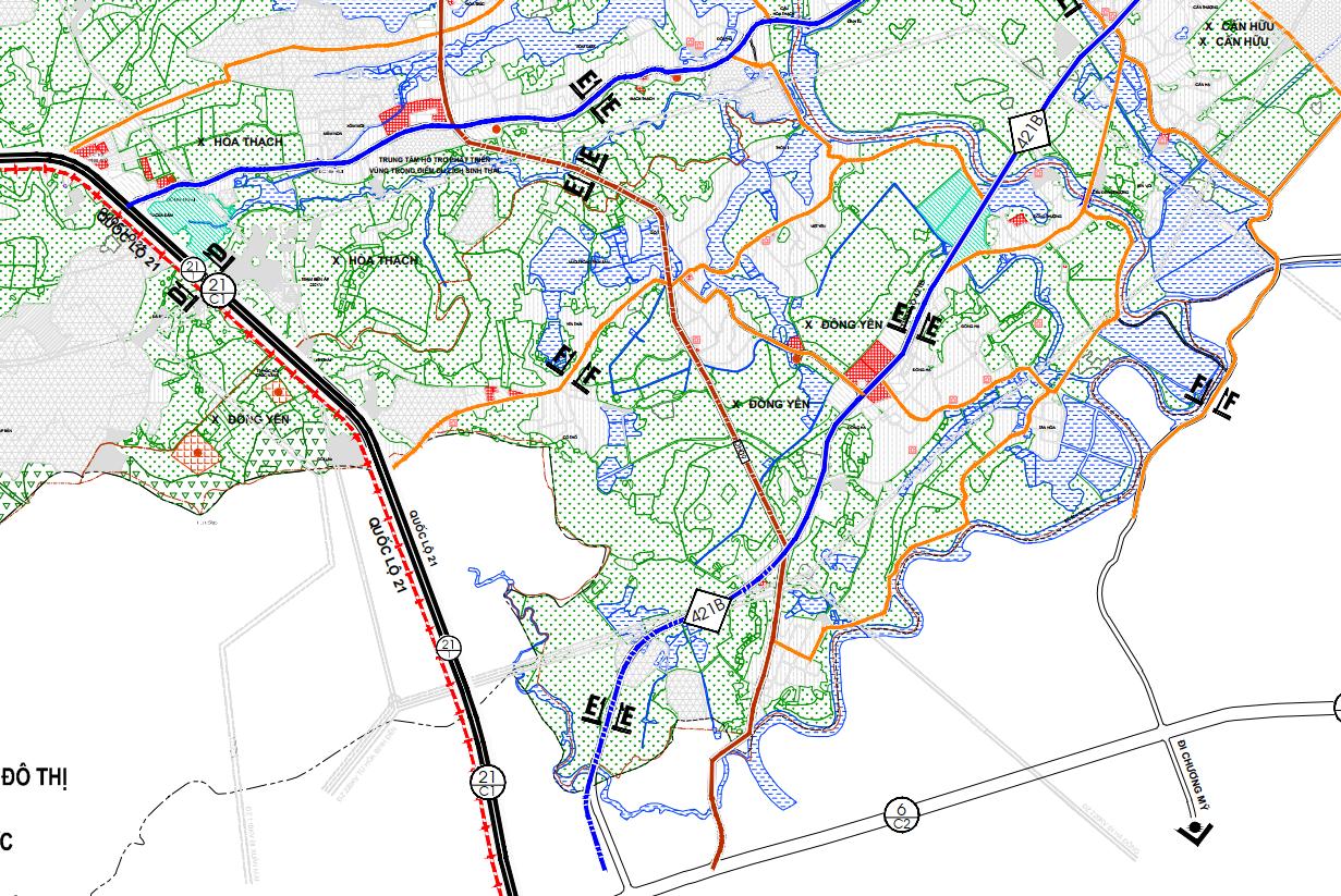 Bản đồ quy hoạch giao thông xã Đông Yên, Quốc Oai, Hà Nội - Ảnh 2.