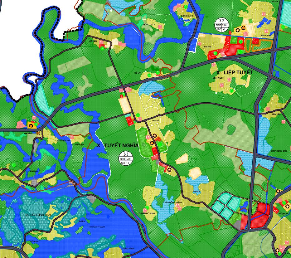Bản đồ quy hoạch sử dụng đất xã Tuyết Nghĩa, Quốc Oai, Hà Nội - Ảnh 2.