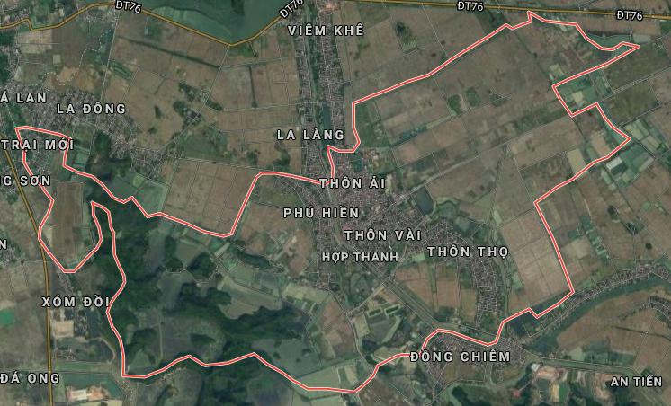 Bản đồ quy hoạch sử dụng đất xã Hợp Thanh, Mỹ Đức, Hà Nội - Ảnh 1.