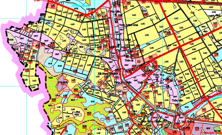 Bản đồ quy hoạch sử dụng đất xã Hợp Thanh, Mỹ Đức, Hà Nội - Ảnh 2.
