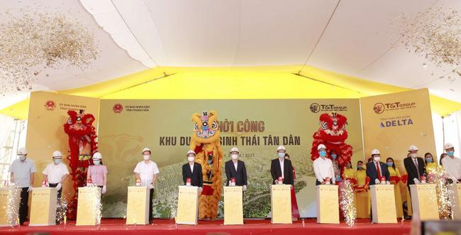 T&T khởi công dự án Khu du lịch sinh thái Tân Dân hơn 3.600 tỷ đồng tại Thanh Hóa - Ảnh 1.
