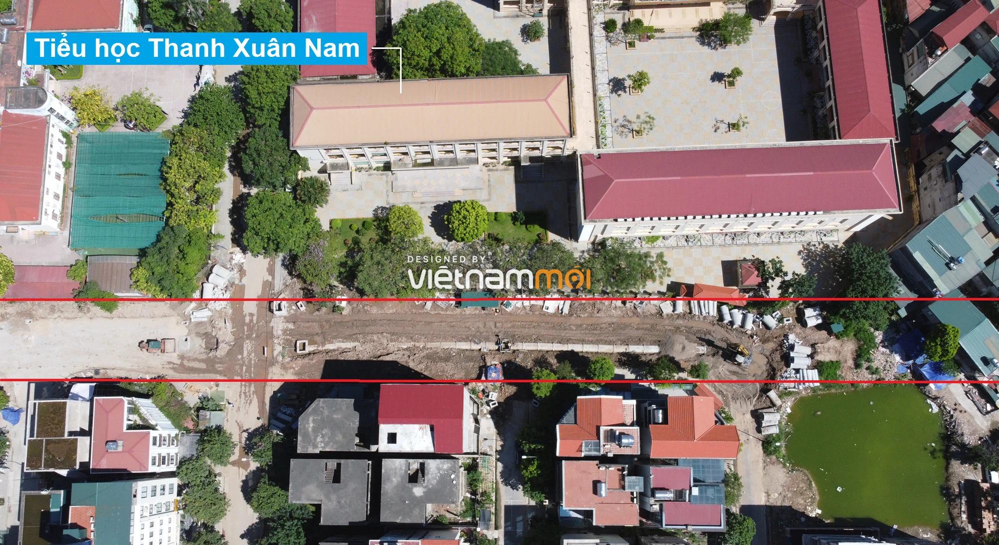 Toàn cảnh tuyến đường vào cụm ba trường Thanh Xuân Nam đang mở theo quy hoạch ở Hà Nội - Ảnh 3.