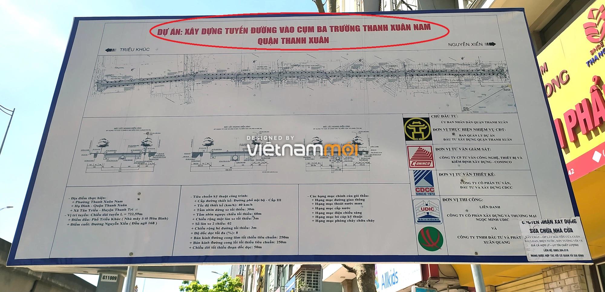 Toàn cảnh tuyến đường vào cụm ba trường Thanh Xuân Nam đang mở theo quy hoạch ở Hà Nội - Ảnh 7.