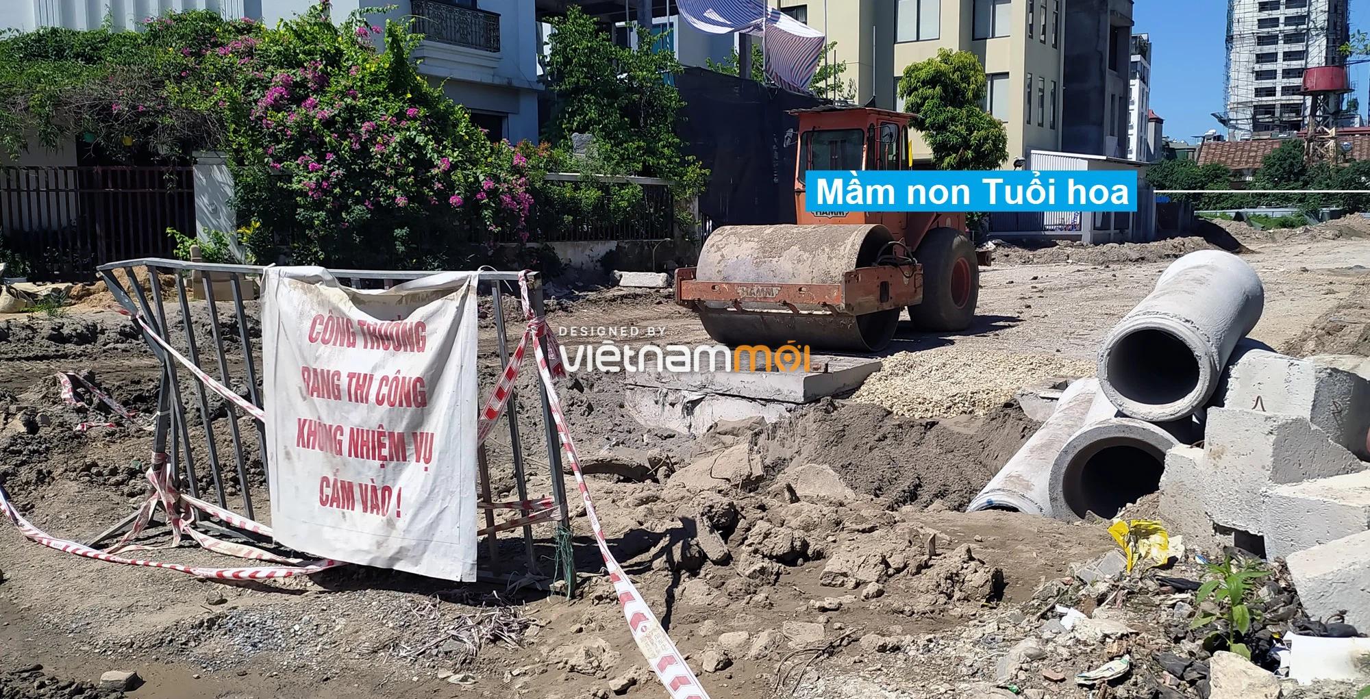 Toàn cảnh tuyến đường vào cụm ba trường Thanh Xuân Nam đang mở theo quy hoạch ở Hà Nội - Ảnh 11.