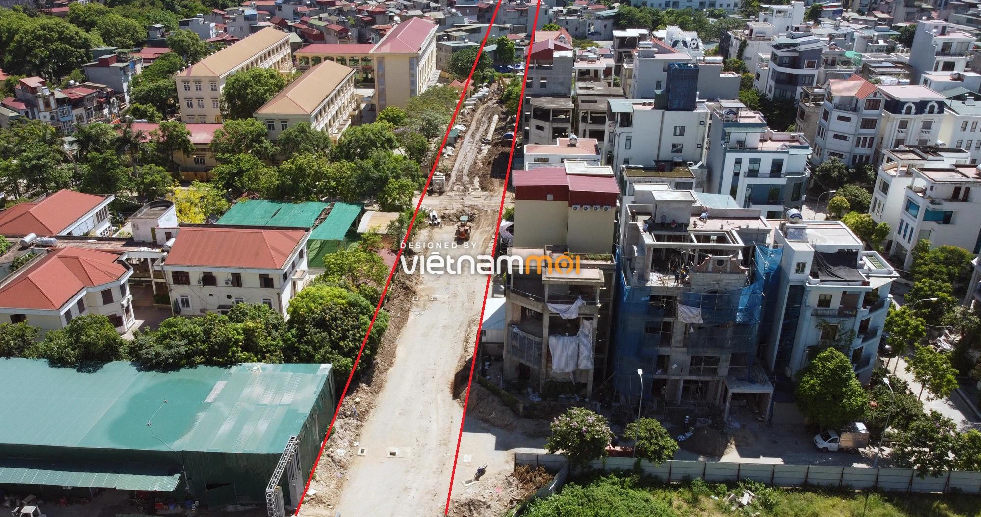 Toàn cảnh tuyến đường vào cụm ba trường Thanh Xuân Nam đang mở theo quy hoạch ở Hà Nội - Ảnh 13.
