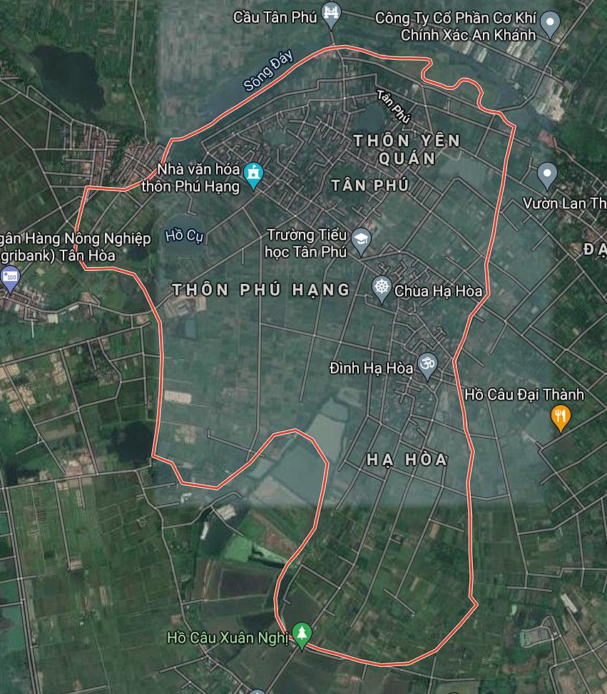 Bản đồ quy hoạch sử dụng đất xã Tân Phú, Quốc Oai, Hà Nội - Ảnh 1.