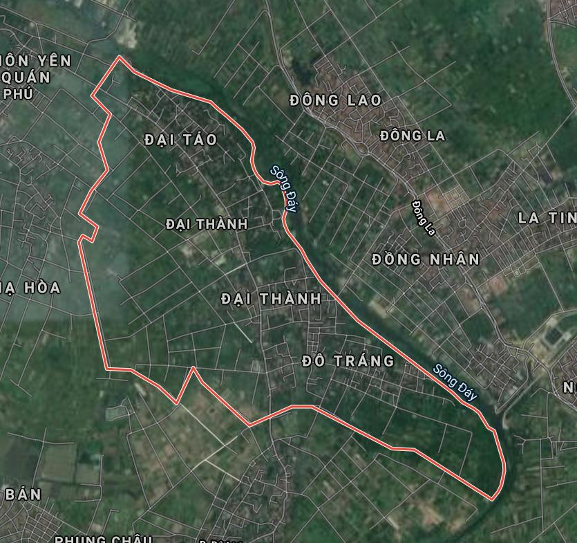 Bản đồ quy hoạch sử dụng đất xã Đại Thành, Quốc Oai, Hà Nội - Ảnh 1.