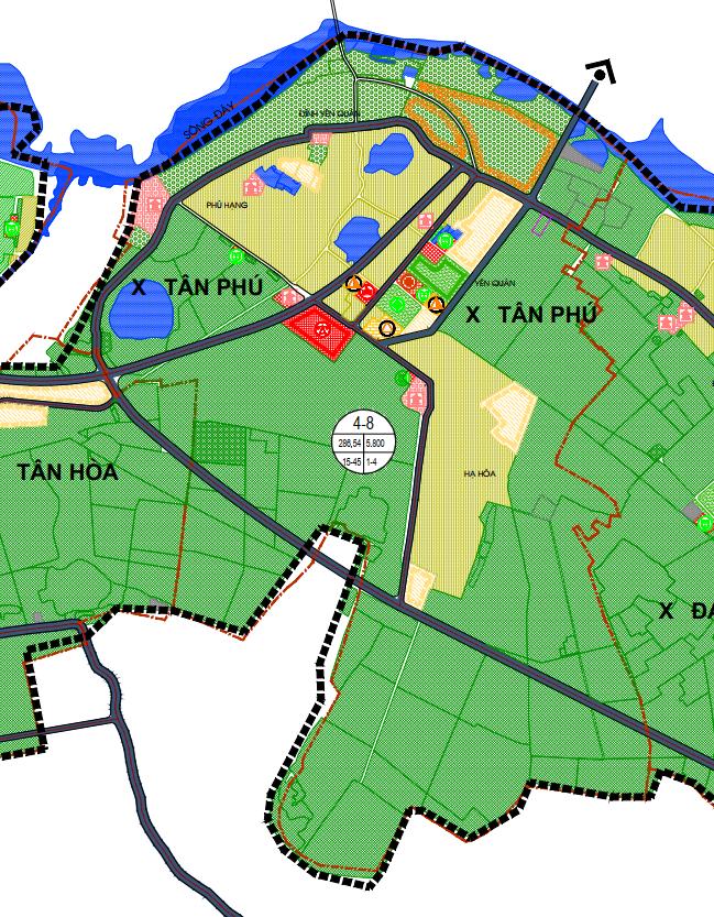 Bản đồ quy hoạch sử dụng đất xã Tân Phú, Quốc Oai, Hà Nội - Ảnh 2.