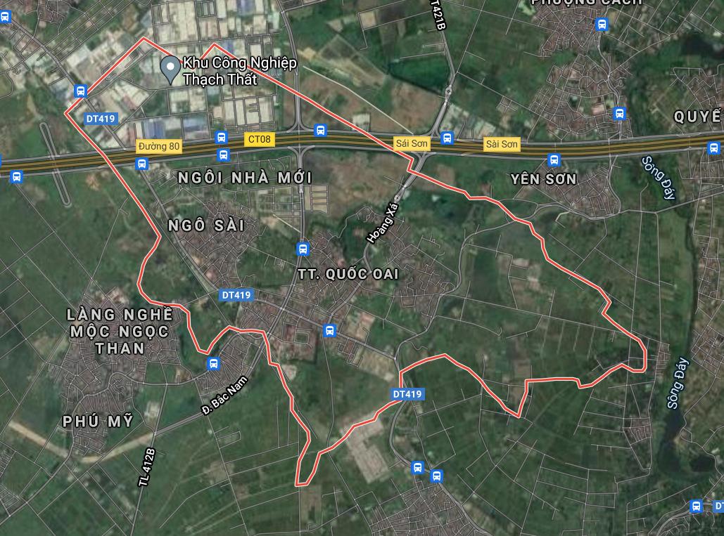 Bản đồ quy hoạch sử dụng đất thị trấn Quốc Oai, Quốc Oai, Hà Nội - Ảnh 1.