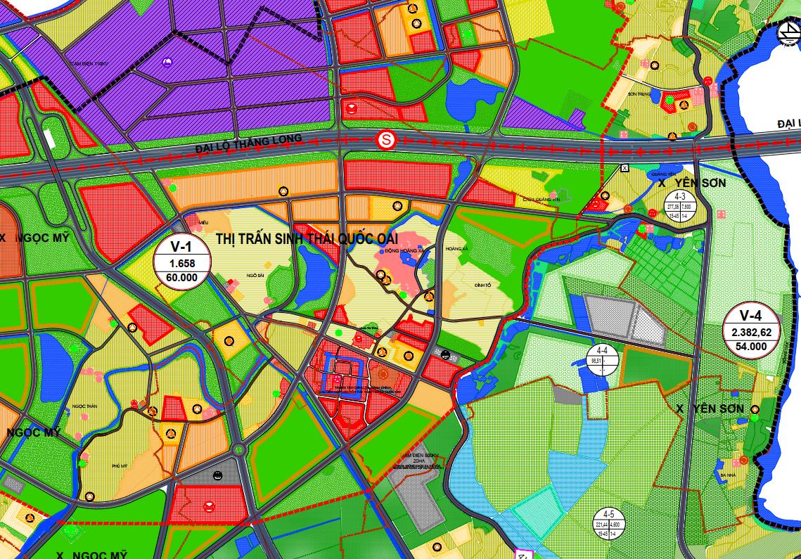 Bản đồ quy hoạch sử dụng đất thị trấn Quốc Oai, Quốc Oai, Hà Nội - Ảnh 2.