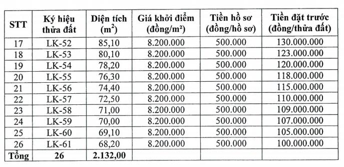 Chương Mỹ, Hà Nội đấu giá 26 thửa đất, khởi điểm 8,2 triệu đồng/m2 - Ảnh 2.