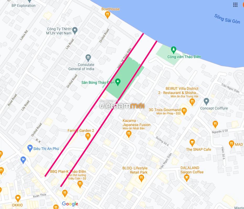 Đường sẽ mở theo quy hoạch ở phường Thảo Điền, Quận 2, TP HCM (phần 1) - Ảnh 2.