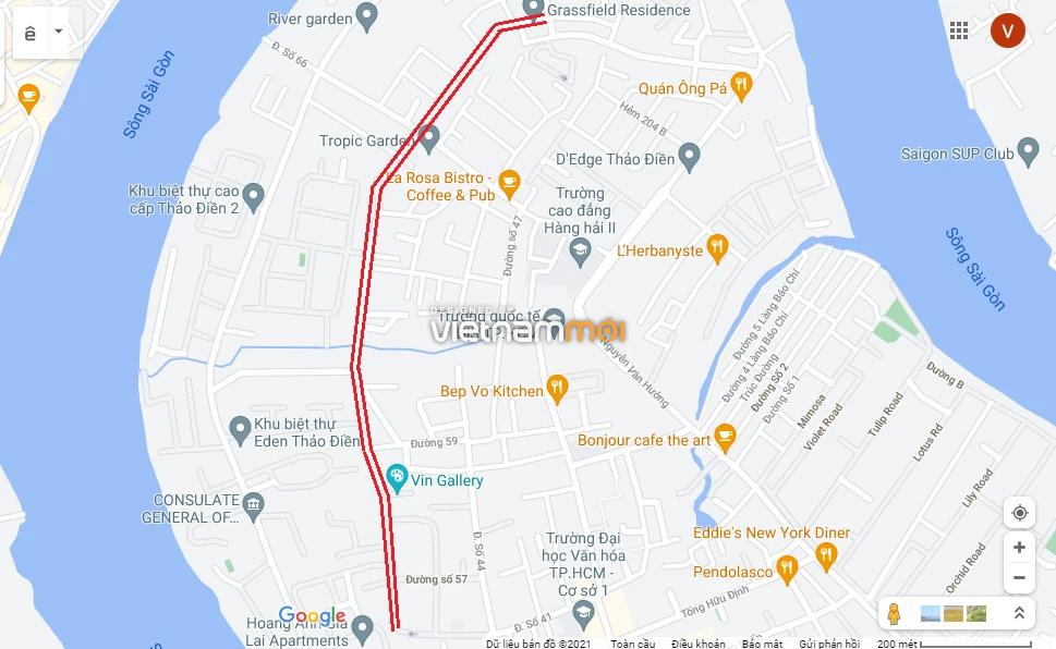 Đường sẽ mở theo quy hoạch ở phường Thảo Điền, Quận 2, TP HCM (phần 1) - Ảnh 4.