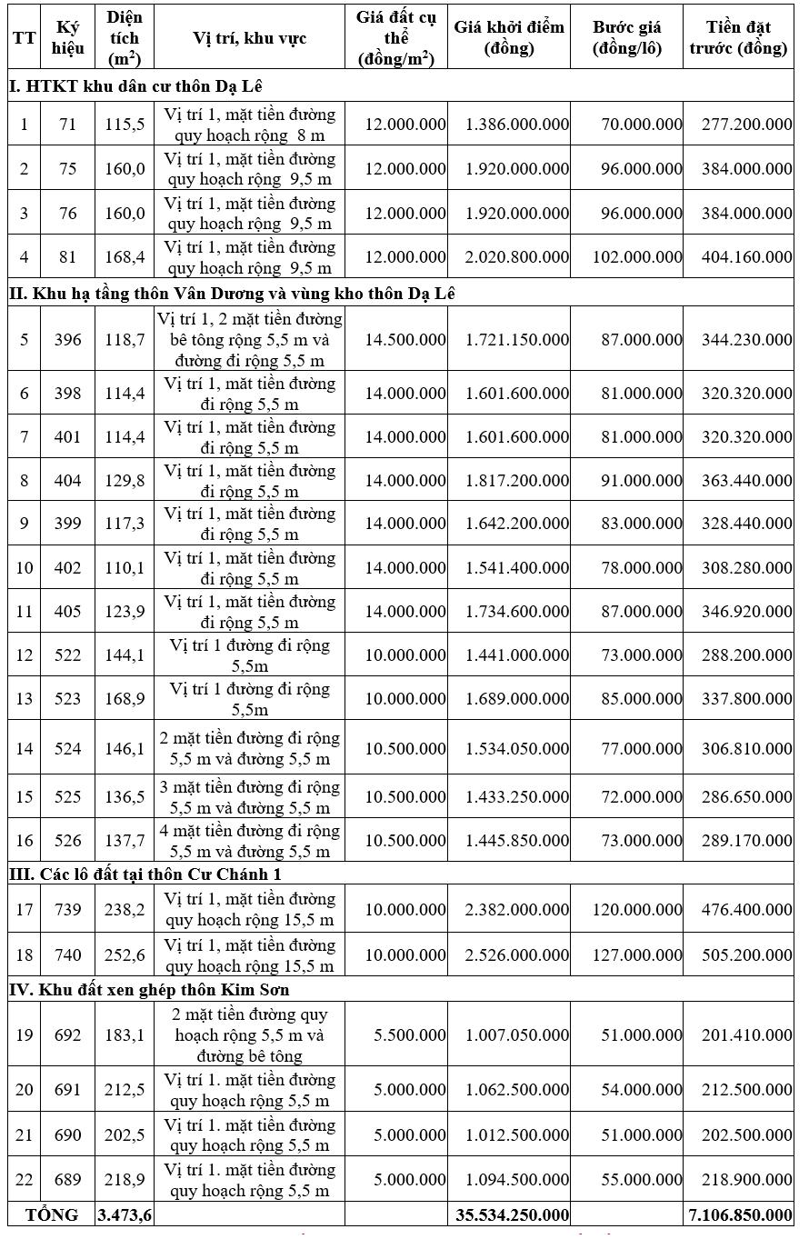 Thừa Thiên Huế đấu giá 22 lô đất tại Hương Thủy,, khởi điểm từ 5 triệu đồng/m2 - Ảnh 1.