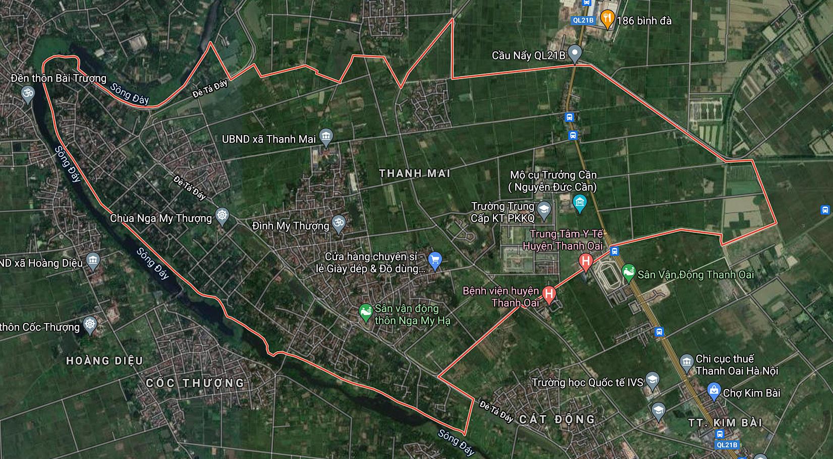 Bản đồ quy hoạch sử dụng đất xã Thanh Mai, Thanh Oai, Hà Nội - Ảnh 1.