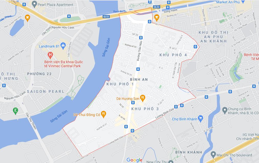 Đường sẽ mở theo quy hoạch ở phường Bình An, Quận 2, TP HCM (phần 1) - Ảnh 1.