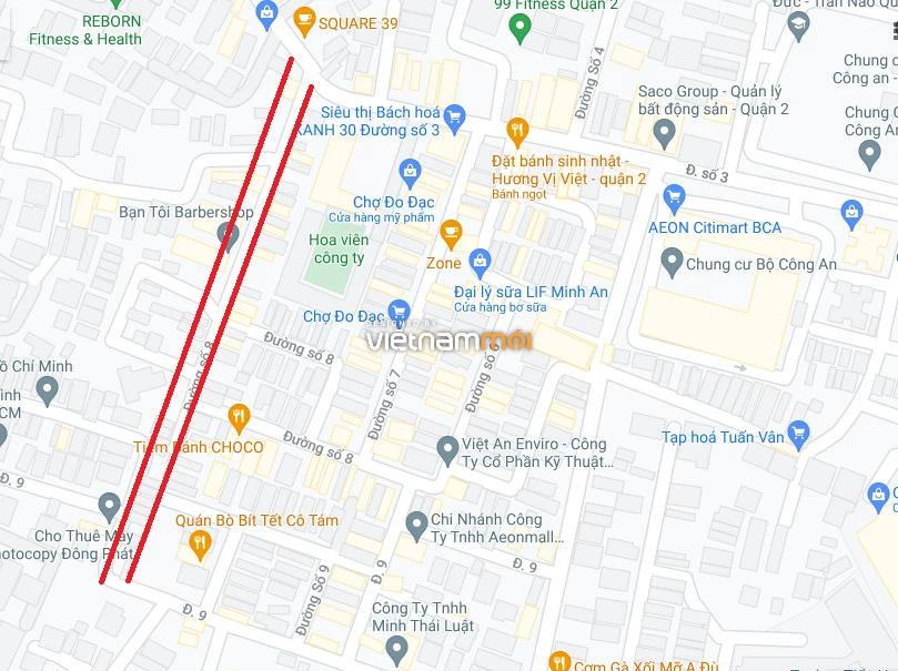 Đường sẽ mở theo quy hoạch ở phường Bình An, Quận 2, TP HCM (phần 1) - Ảnh 2.