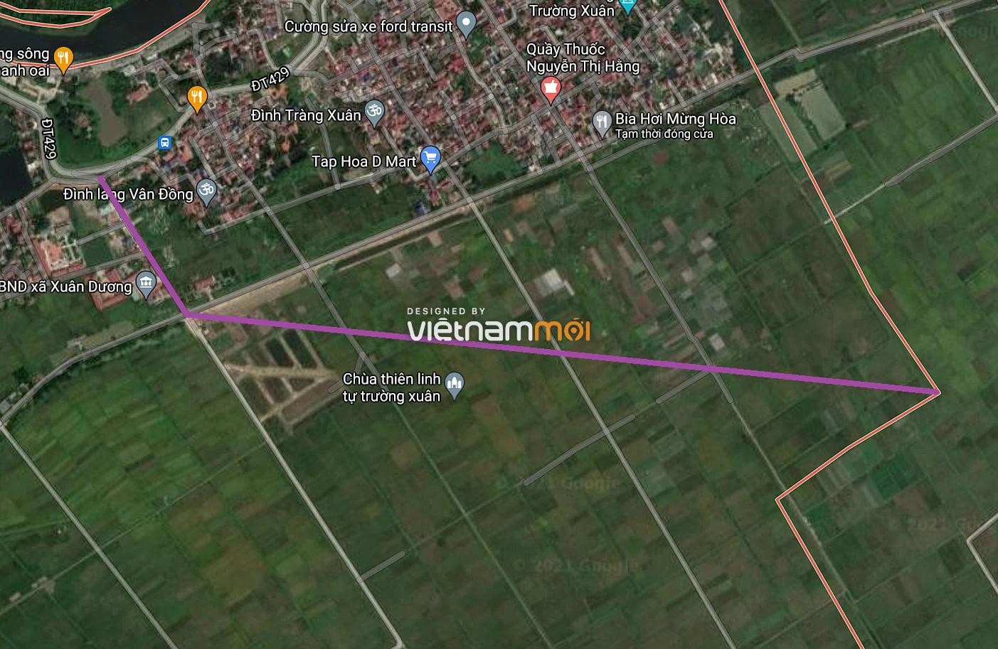 Đường sẽ mở ở xã Xuân Dương, Thanh Oai, Hà Nội - Ảnh 2.