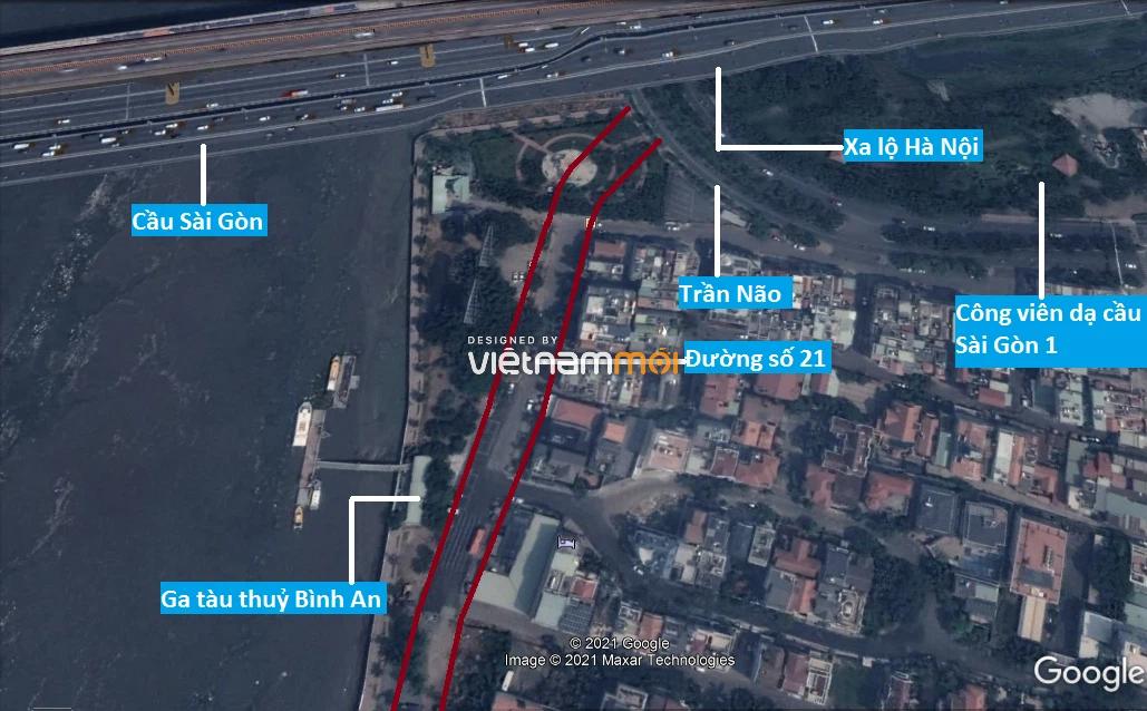 Đường sẽ mở theo quy hoạch ở phường Bình An, Quận 2, TP HCM (phần 2) - Ảnh 2.