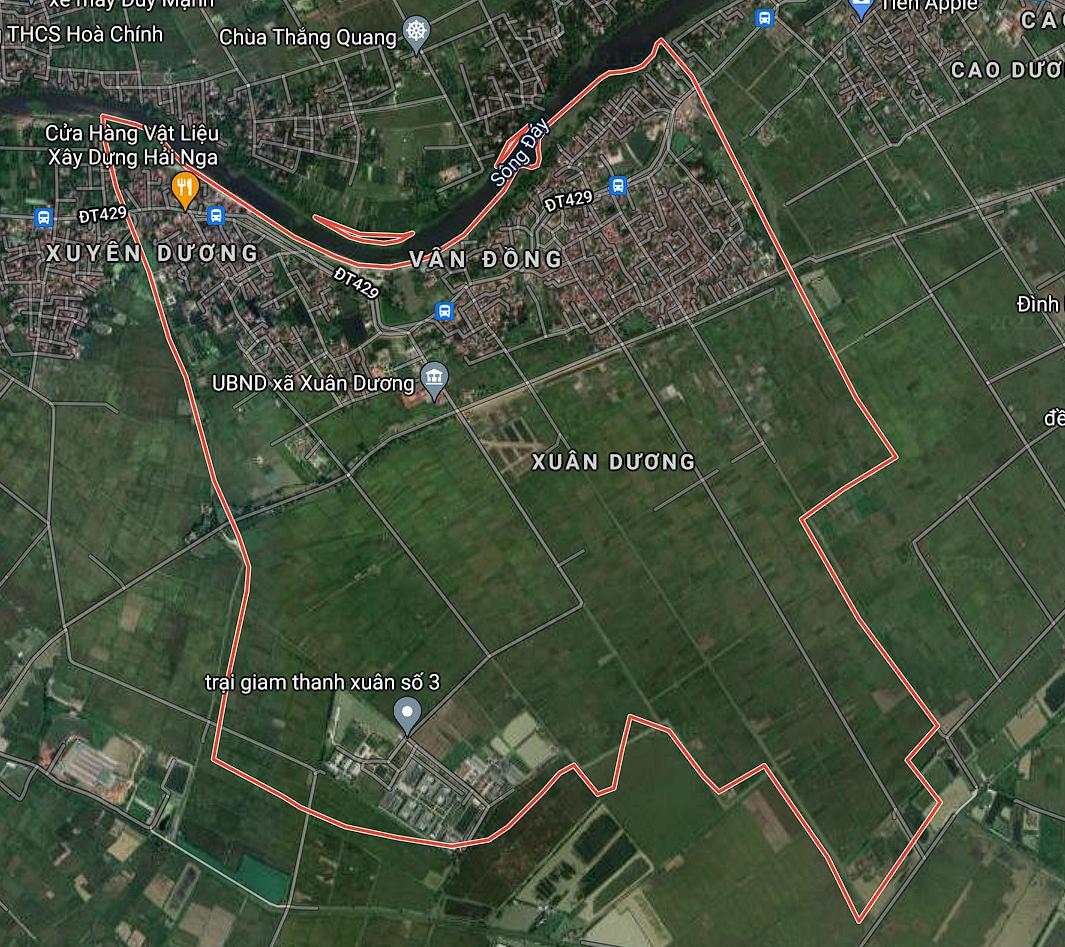 Bản đồ quy hoạch giao thông xã Xuân Dương, Thanh Oai, Hà Nội - Ảnh 1.