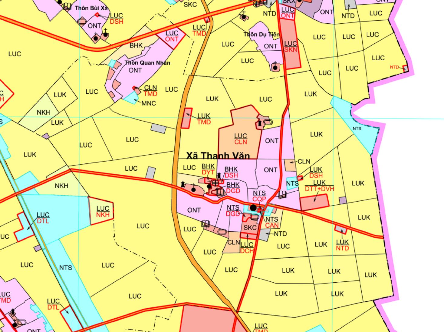 Bản đồ quy hoạch sử dụng đất xã Thanh Văn, Thanh Oai, Hà Nội - Ảnh 2.