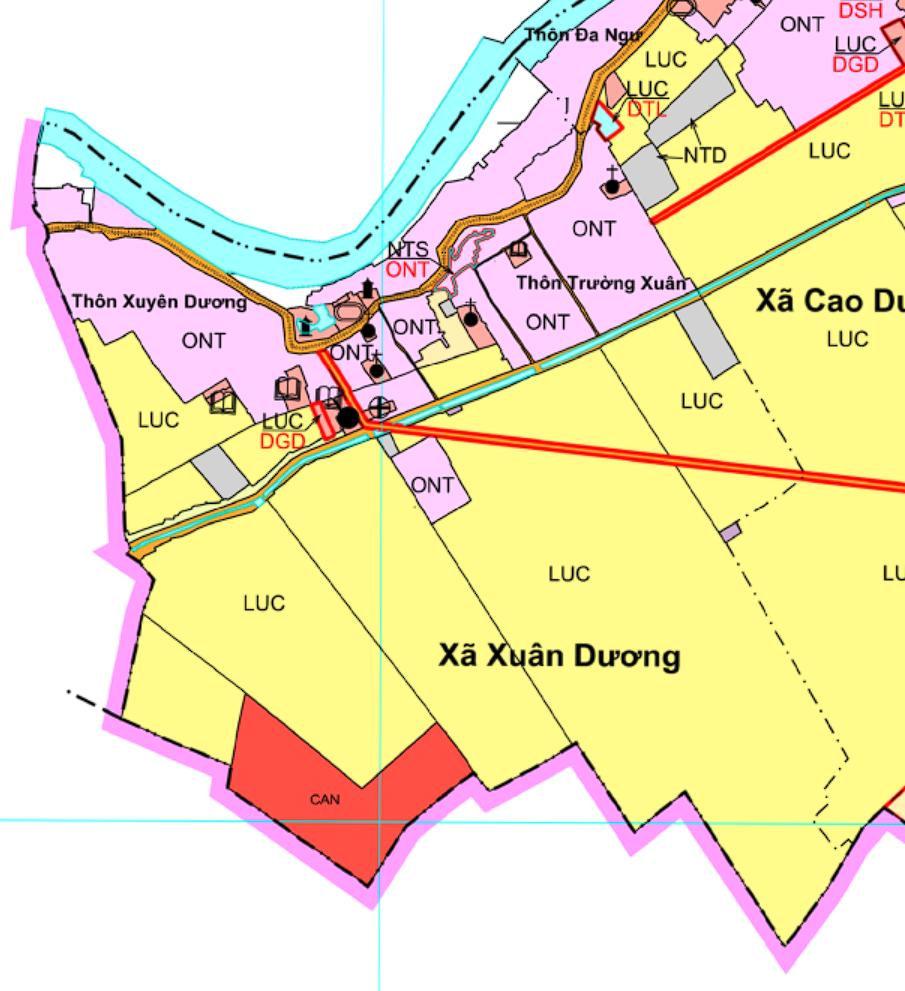 Bản đồ quy hoạch giao thông xã Xuân Dương, Thanh Oai, Hà Nội - Ảnh 2.