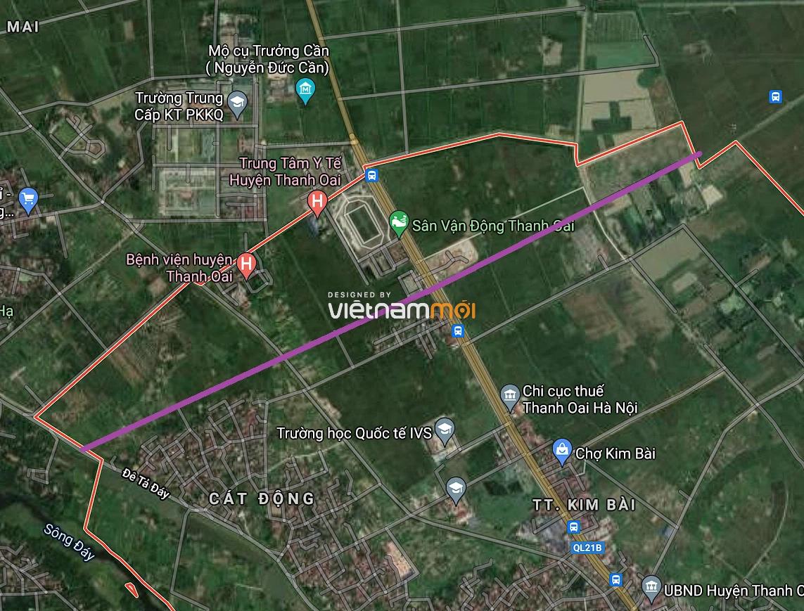 Đường sẽ mở ở thị trấn Kim Bài, Thanh Oai, Hà Nội - Ảnh 2.